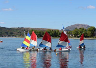 Curricular sailing on the Clyde Estuary