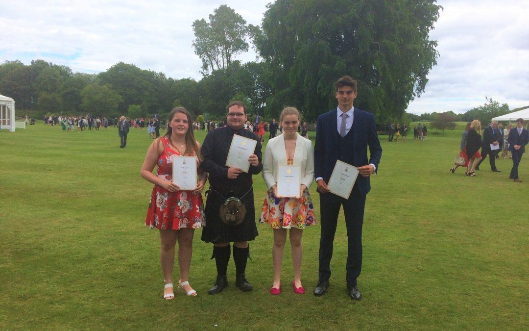 Celebrating success at Holyrood Palace
