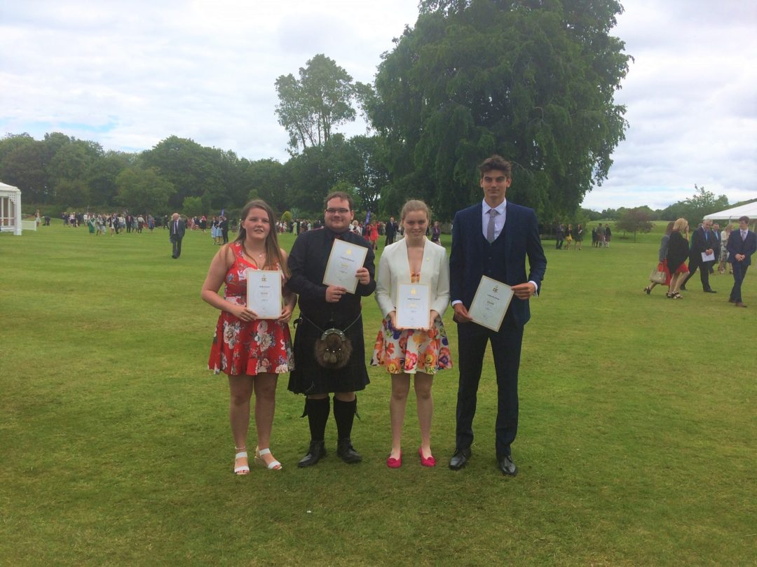 Celebrating success at Holyrood Palace