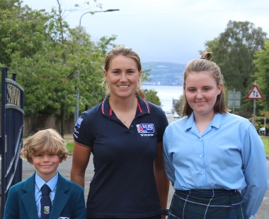 Former Pupil and Olympic hopeful Anna Burnet returns to Lomond School
