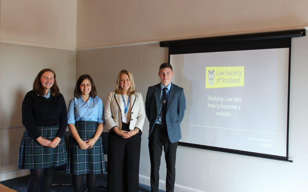 Weekly guest speakers including Fomer Pupils help S5 pupils navigate future choices