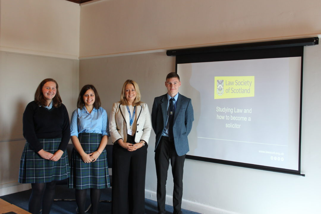 Weekly guest speakers including Former Pupils help S5 pupils navigate future choices